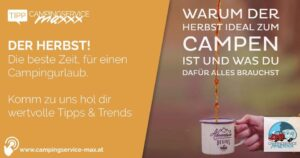 Campingservice Maxxx, Tipps Camping im Herbst