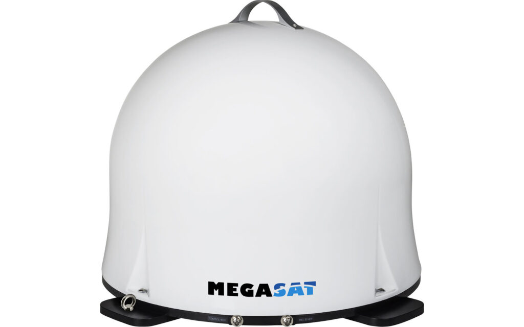 Megasat Campingman Portable 3 vollautomatische Twin Sat-Anlage inkl. Steuergerät